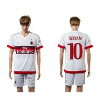 AC Milan #10 Boban Away Soccer Club Jersey