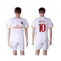 AC Milan #10 Gullit Away Soccer Club Jersey