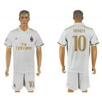 AC Milan #10 Honda Away Soccer Club Jersey