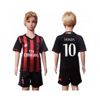 AC Milan #10 Honda Home Kid Soccer Club Jersey