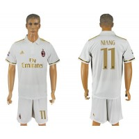 AC Milan #11 Niang Away Soccer Club Jersey