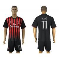 AC Milan #11 Niang Home Soccer Club Jersey