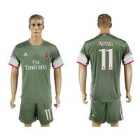 AC Milan #11 Niang Sec Away Soccer Club Jersey