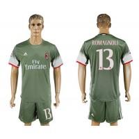 AC Milan #13 Romagnoli Sec Away Soccer Club Jersey