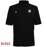 Adidas Chelsea FC Textured Solid Performance Polo Black