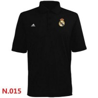 Adidas Real Madrid CF Textured Solid Performance Polo Black