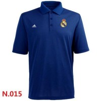 Adidas Real Madrid CF Textured Solid Performance Polo Blue