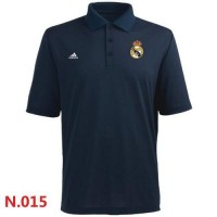 Adidas Real Madrid CF Textured Solid Performance Polo Dark Blue