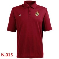 Adidas Real Madrid CF Textured Solid Performance Polo Red