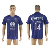 America #14 R.Sambueza Blue Soccer Club Jersey