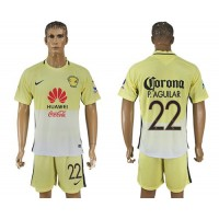 America #22 P.Aguilar Home Soccer Club Jersey