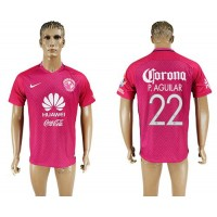 America #22 P.Aguilar Pink Soccer Club Jersey