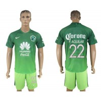 America #22 P.Aguilar Sec Away Soccer Club Jersey