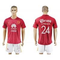 America #24 O.Peralta Away Soccer Club Jersey