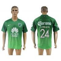 America #24 O.Peralta Sec Away Soccer Club Jersey