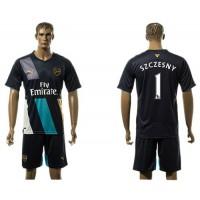 Arsenal #1 Szczesny Dark Blue Soccer Club Jersey