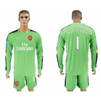 Arsenal #1 Szczesny Green Goalkeeper Long Sleeves Soccer Club Jersey
