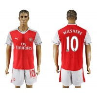Arsenal #10 Wilshere Home Soccer Club Jersey