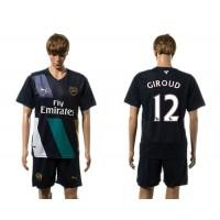 Arsenal #12 Giroud Dark Blue Soccer Club Jersey