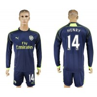Arsenal #14 Henry Sec Away Long Sleeves Soccer Club Jersey