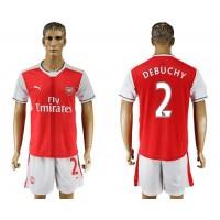 Arsenal #2 Debuchy Home Soccer Club Jersey