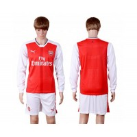 Arsenal Personalized Red Home Long Sleeves Soccer Club Jersey