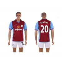 Aston Villa #20 Benteke Red Home Soccer Club Jersey
