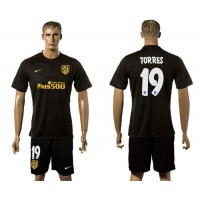 Atletico Madrid #19 Torres Away Soccer Club Jersey