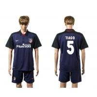 Atletico Madrid #5 Tiago Away Soccer Club Jersey