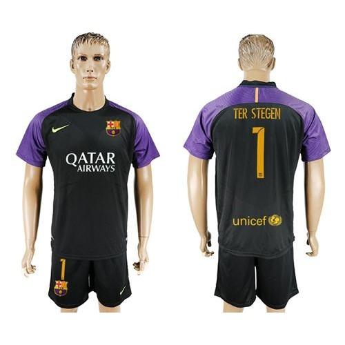 0d9685f27 ... coupon barcelona 1 ter stegen black goalkeeper soccer club jersey f51f4  31864