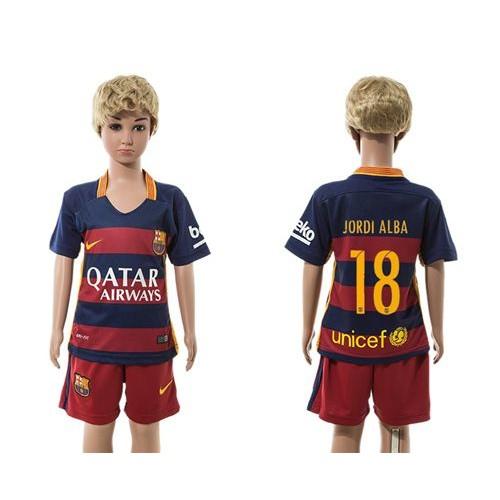 08ad78ad140 ... buy barcelona 18 jordi alba homered shorts kid soccer club jersey 0d984  a2987