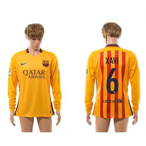 08ff92310a5 ... ireland barcelona 6 xavi thai version away long sleeves soccer club  jersey 30bf8 e7197