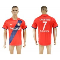 Bayer Leverkusen #7 Chicharito Away Soccer Club Jersey