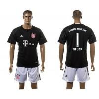 Bayern Munchen #1 Neuer Black Training Soccer Club Jersey