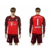 Bayern Munchen #1 Neuer Goalkeeper Long Sleeves Soccer Club Jersey