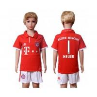 Bayern Munchen #1 Neuer Home Kid Soccer Club Jersey