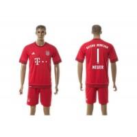 Bayern Munchen #1 Neuer Home Soccer Club Jersey