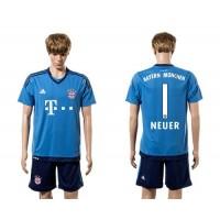 Bayern Munchen #1 Neuer Light Blue Soccer Club Jersey