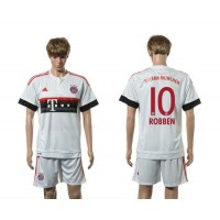 Bayern Munchen #10 Robben Away (White Shorts) Soccer Club Jersey