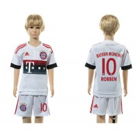 Bayern Munchen #10 Robben Away Kid Soccer Club Jersey