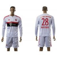 Bayern Munchen #28 Badstuber Away Long Sleeves Soccer Club Jersey