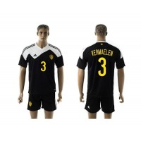 Belgium #3 Vermaelen Black Away Soccer Club Jersey