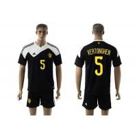 Belgium #5 Vertonghen Black Away Soccer Club Jersey