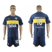 Boca Juniors #10 Carlitos Home Soccer Club Jersey