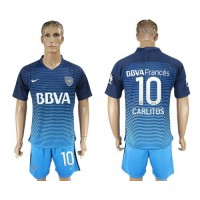 Boca Juniors #10 Carlitos Sec Away Soccer Club Jersey