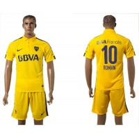 Boca Juniors #10 Roman Away Soccer Club Jersey