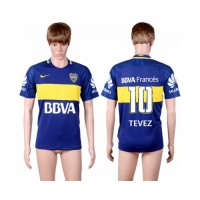 Boca Juniors #10 Tevez Home Soccer Club Jersey
