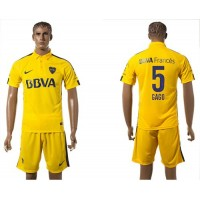 Boca Juniors #5 Gago Away Soccer Club Jersey