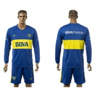 Boca Juniors Personalized Home Long Sleeves Soccer Club Jersey