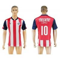 Guadalajara #10 Lopez Home Soccer Club Jersey